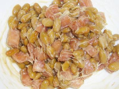 納豆にいなばポーク(うす塩味)・いなばポークレシピ