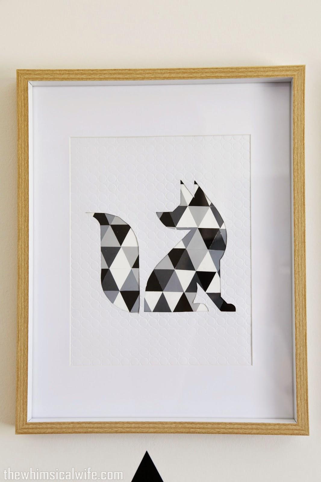 diy geometric animal wall art the whimsical wife