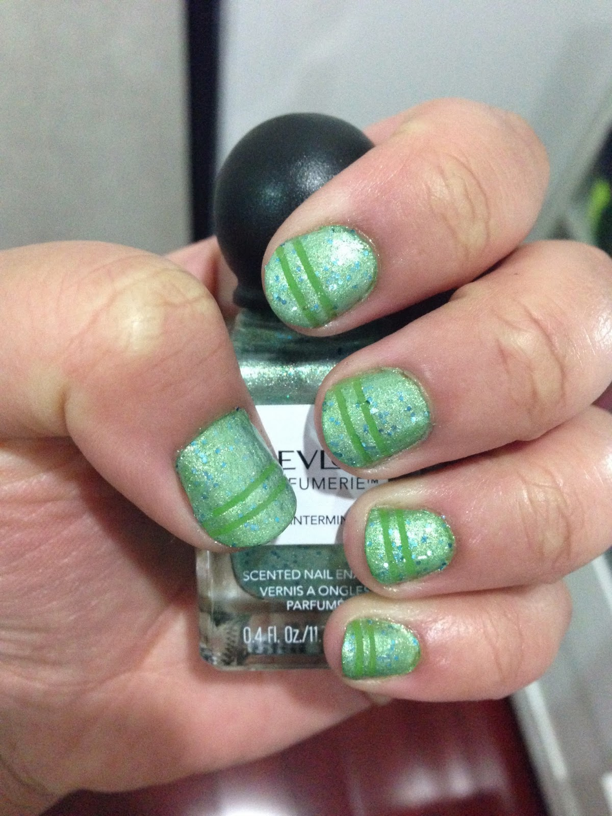 OPI Green-Wich Village and Revlon Parfumerie in Wintermint
