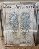 VINTAGE CUPBOARD ANGEL WINGS