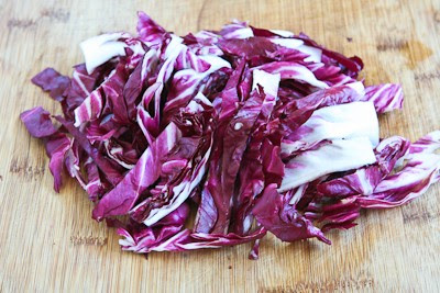 Ottolenghi's Perfect Lettuce Salad with Radicchio, Radishes, Tomatoes, and Capers  [Found on KalynsKitchen.com]