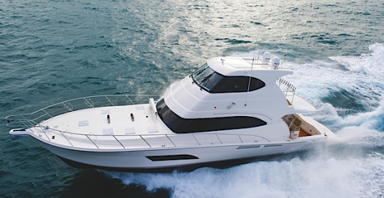 Riviera launched the new 61 Enclosed Flybridge Series II model a couple of ...