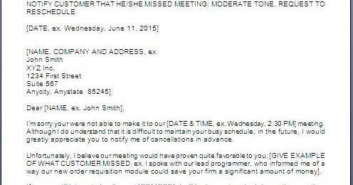 Every bit of life sample letter for rescheduling meeting