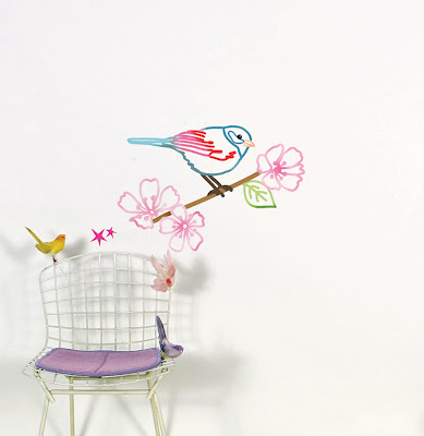 Wall Stickers, Oiseau Sur Branche by Bohemia