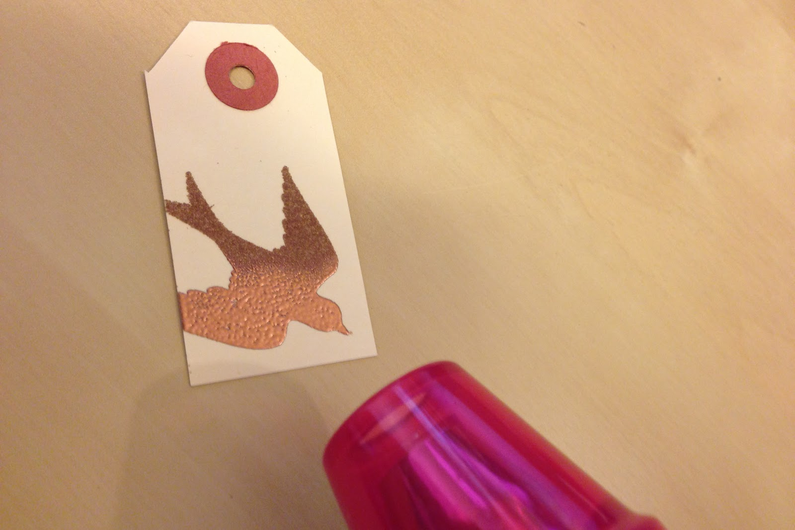 Black tag diaries how to create your own gift tags for American crafts zap embossing heat gun