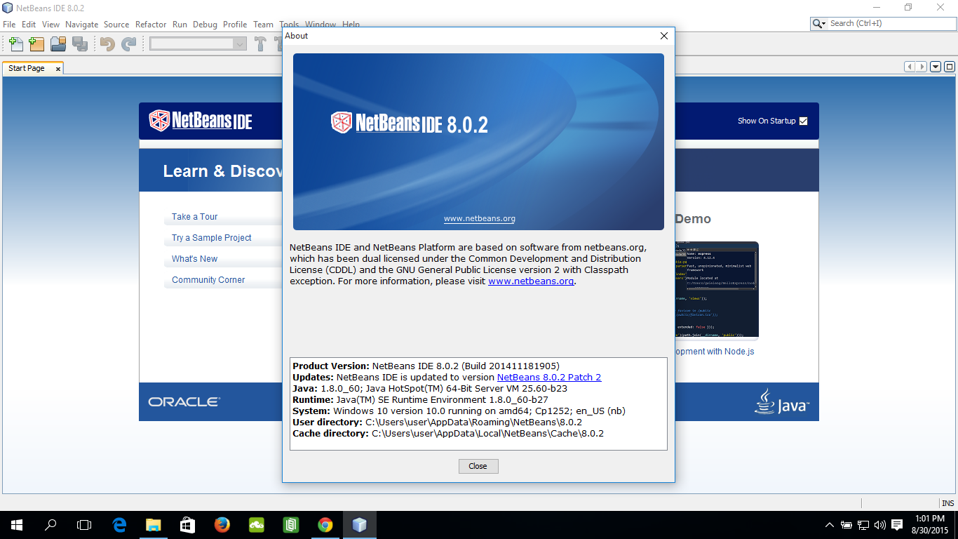 Java-Buddy: Install NetBeans IDE on Windows 10
