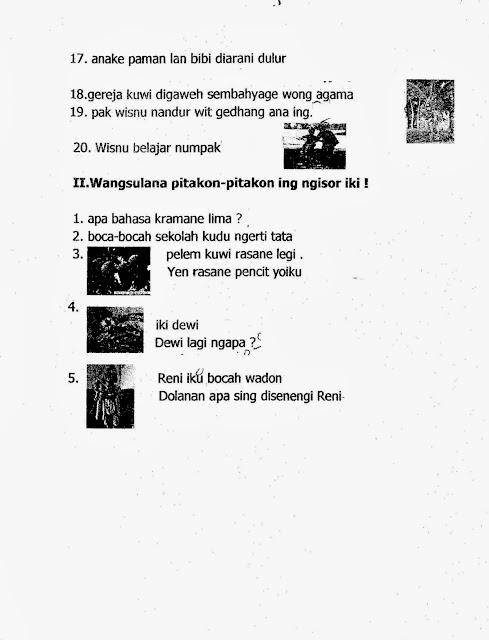 Ragam Budaya Nusantara Soal Uas Bahasa Jawa Kelas 1 Semester 1 Kurikulum 2013