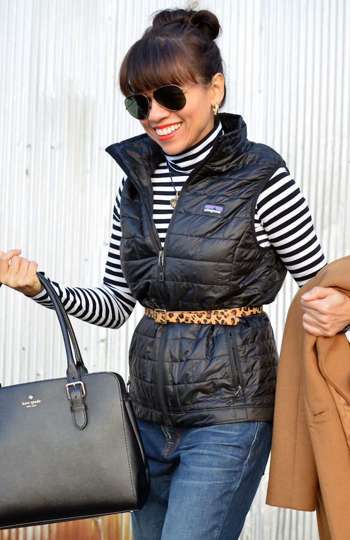 How to style a puffer vest