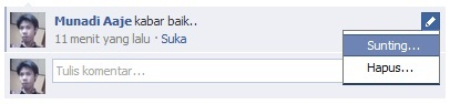 Sunting Komentar Facebook