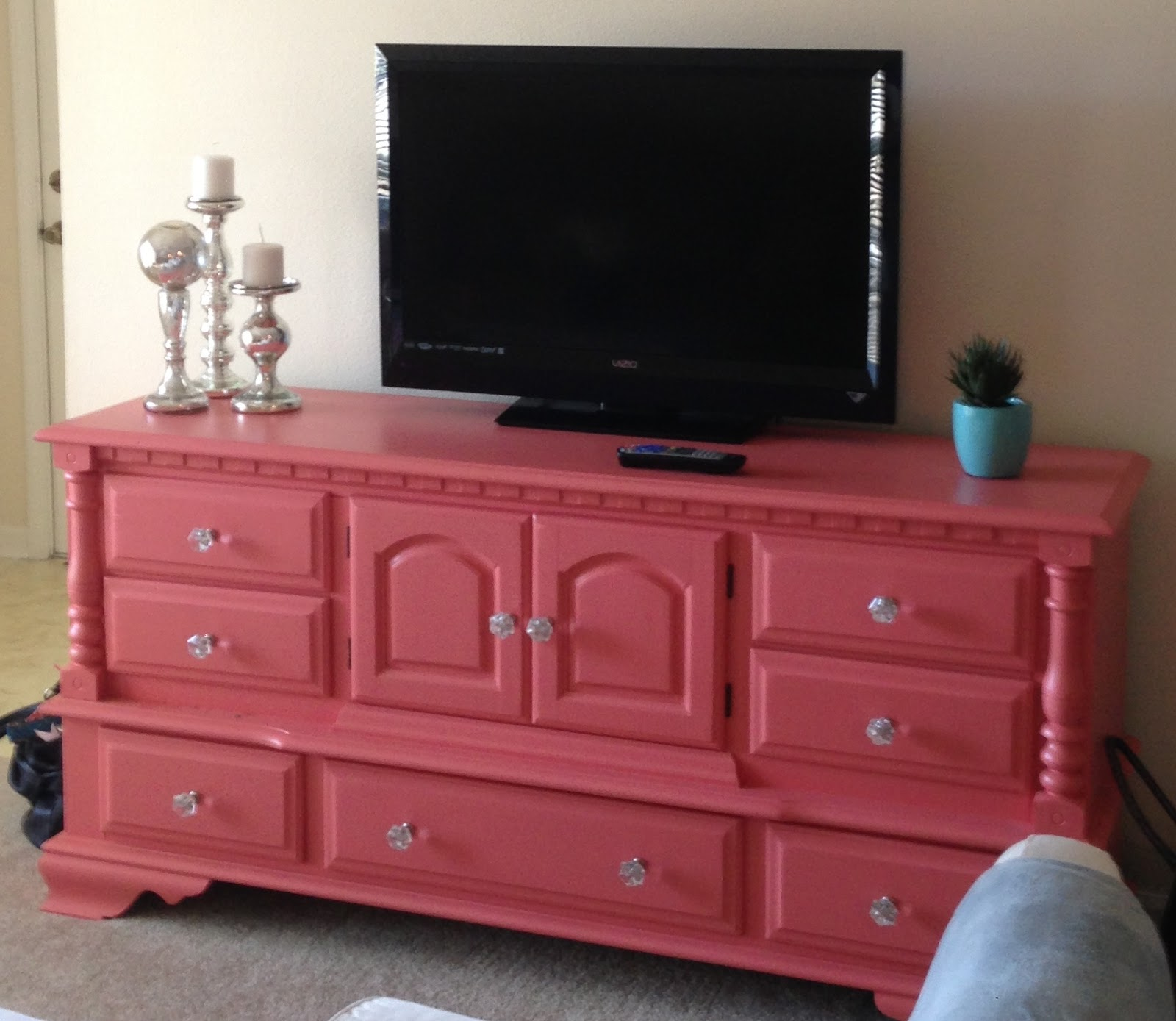 Reclaiming The Used Dresser Into A Tv Stand