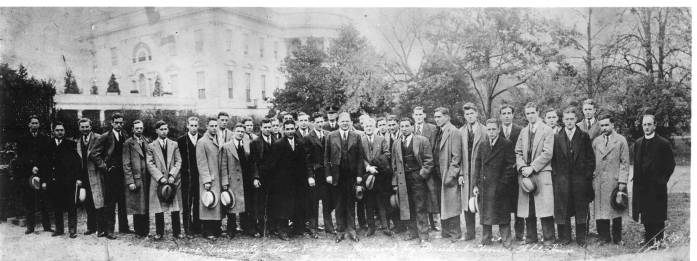 Unbeaten 1929 Dukes at the White House with the President