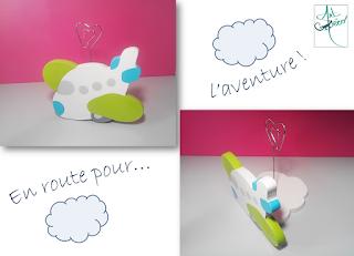 support photo bois avion création personnalisée nuage