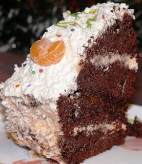 Апельсиновый торт с миндальным орешком