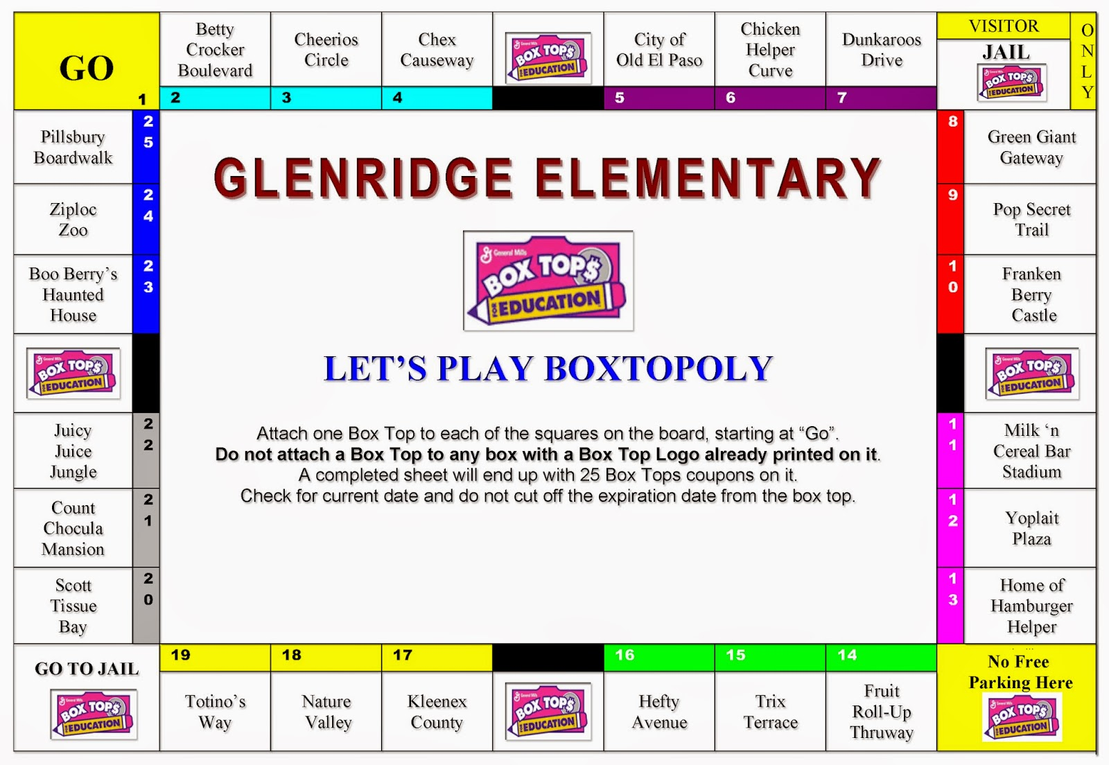 Have your kids told you about our new contest? Itu0027s called Boxtopoly! The first class to fill their game board with Box Tops* from the listed participating ...  sc 1 st  Glenridge PTO & Glenridge PTO: Letu0027s Play Boxtopoly! Aboutintivar.Com