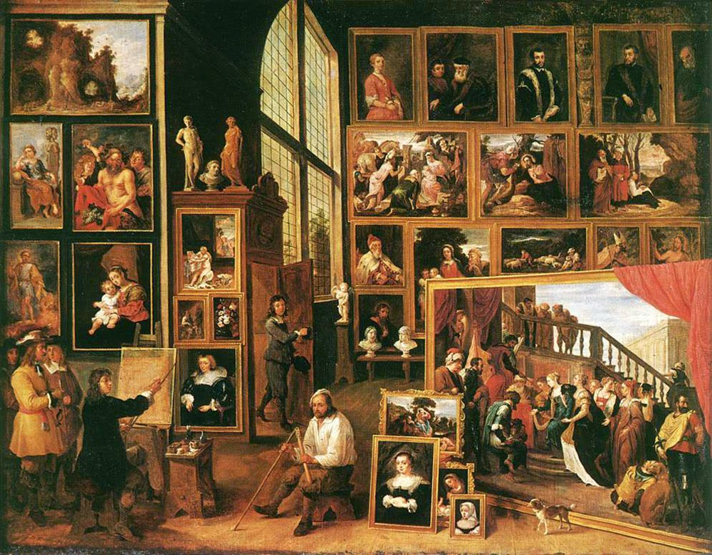 David Teniers the Younger | Archduke Leopold Wilhelm in his Gallery in Brussels