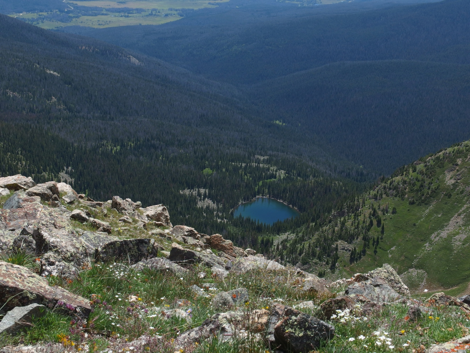 A great view of Blue Lake. For reference, there is also a Blue Lake within  RMNP, located in Glacier Gorge.