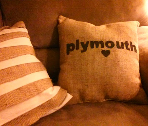 Lina and Vi - Burlap Painted Pillow DIY - Plymouth MI