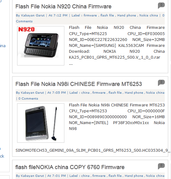 Download Koleksi Firmware Nokia China Terupdate ~ DSP