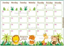 2019 Calendars for kids