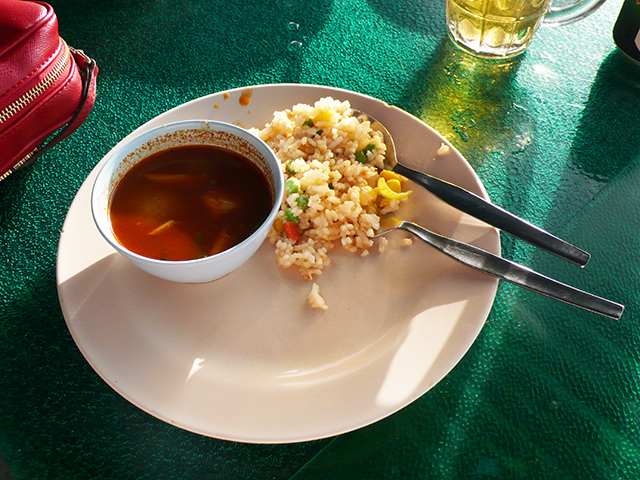 Tom Yum and Pineapple Rice at Bukit Genting.