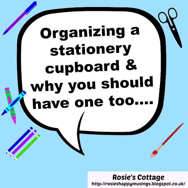 Organizing a stationery cupboard