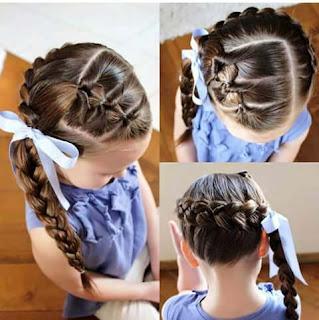Contoh Model Rambut Kepang Anak Perempuan