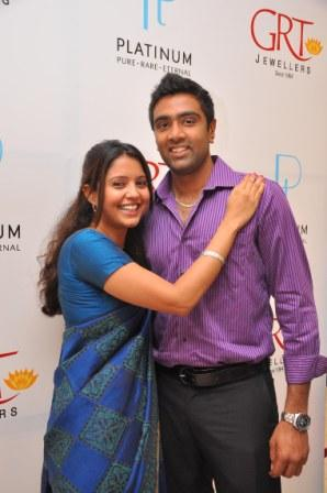 r ashwin and his wife  Monday, August 13, 2012