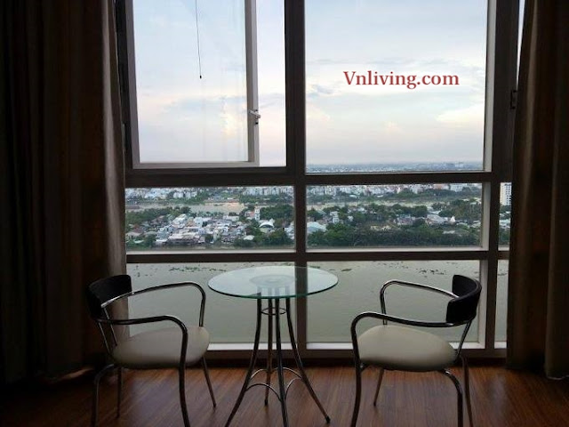 Corner Xi Riverview apartment for rent with stunning river view fully furniture