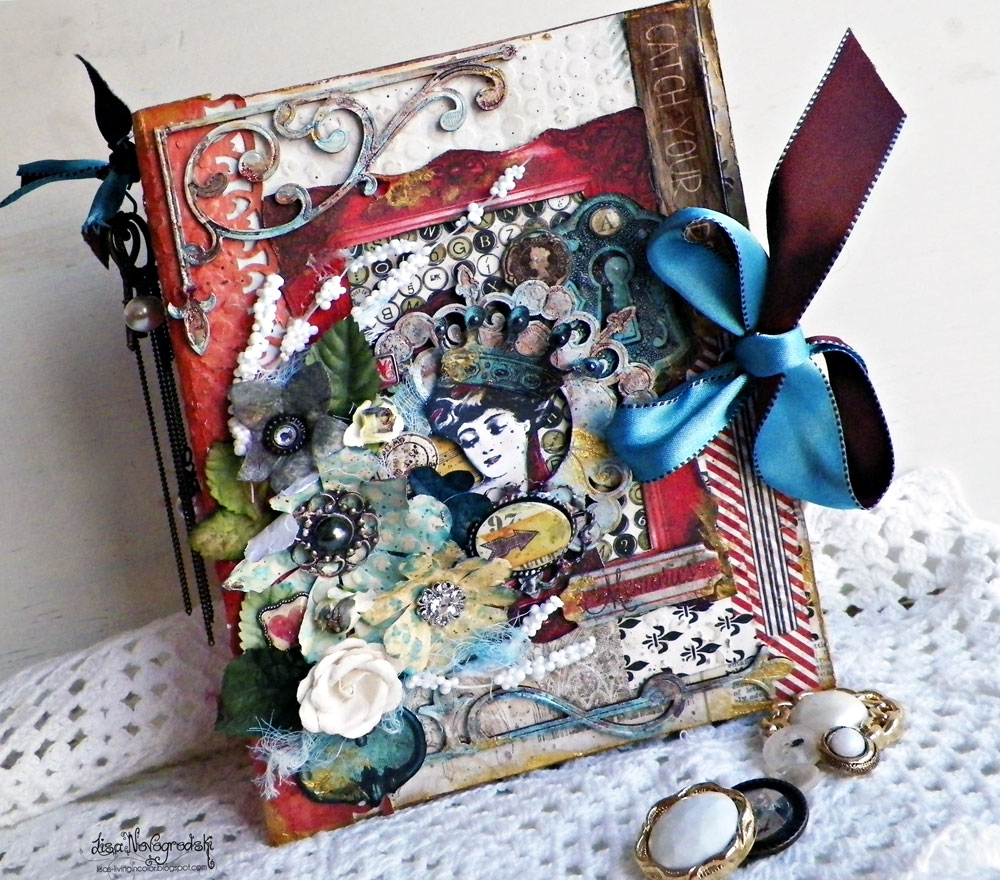 Altered Book Box by Lisa Novogrodski For BoBunny using the Star Crossed Collection