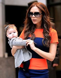 victoria bheckham with here lovely daughter