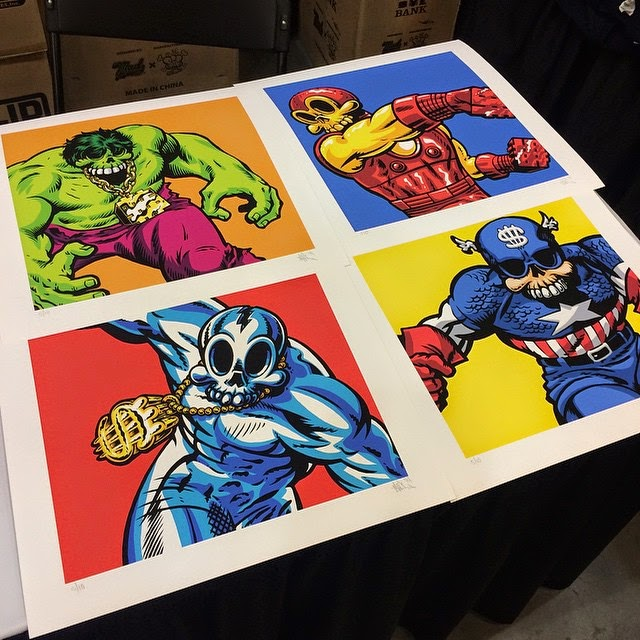 "Designer Con 2014 Exclusive ""Modern Heroes"" Marvel Comics x Modern Hero Print Series by MAD"