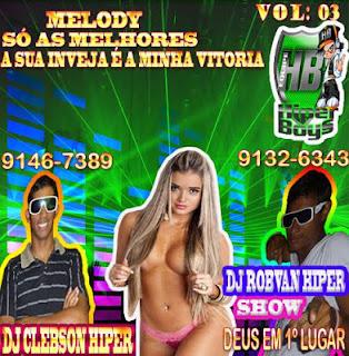 CD DA EQUIPE HIPER BOY'S NA ÁREA MUITAS NOVIDADES E MARCANTE, SUCESSO TOTAL.. PRODUÇÃO E MIXAGENS DJ ROBVAN HIPER SHOW E DJ CLEBSON HIPER.