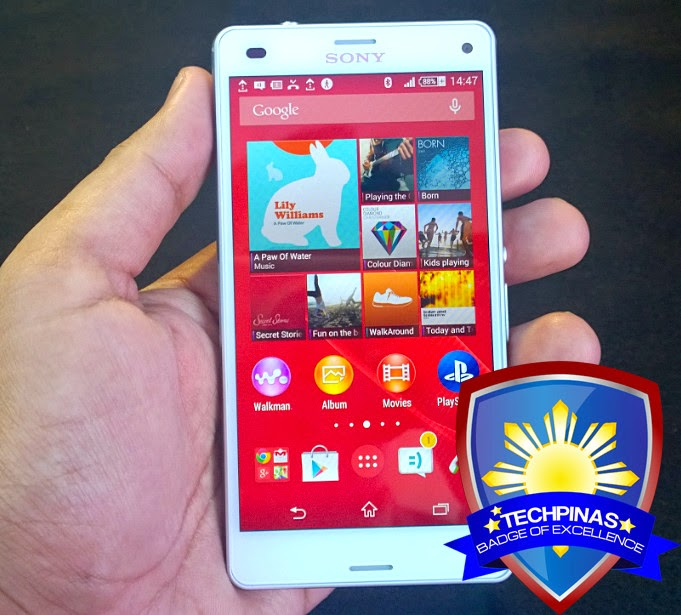 Sony Xperia Z3 Compact, Sony Xperia Z3 Compact Philippines, TechPinas Badge of Excellence