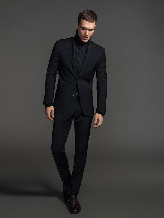 Total Black Uomo Matrimonio : Come vestire casual chi per le feste ci pensa massimo dutti