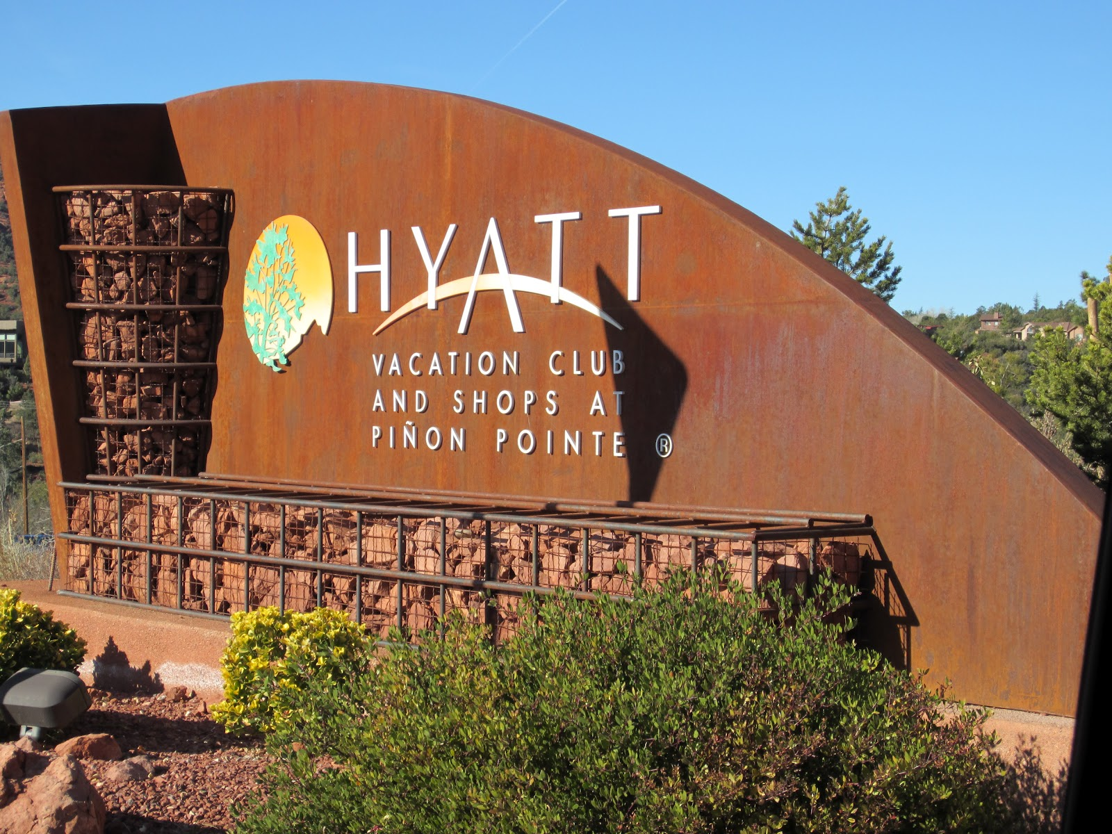 oh, the places we went: hyatt vacation resort in sedona, az