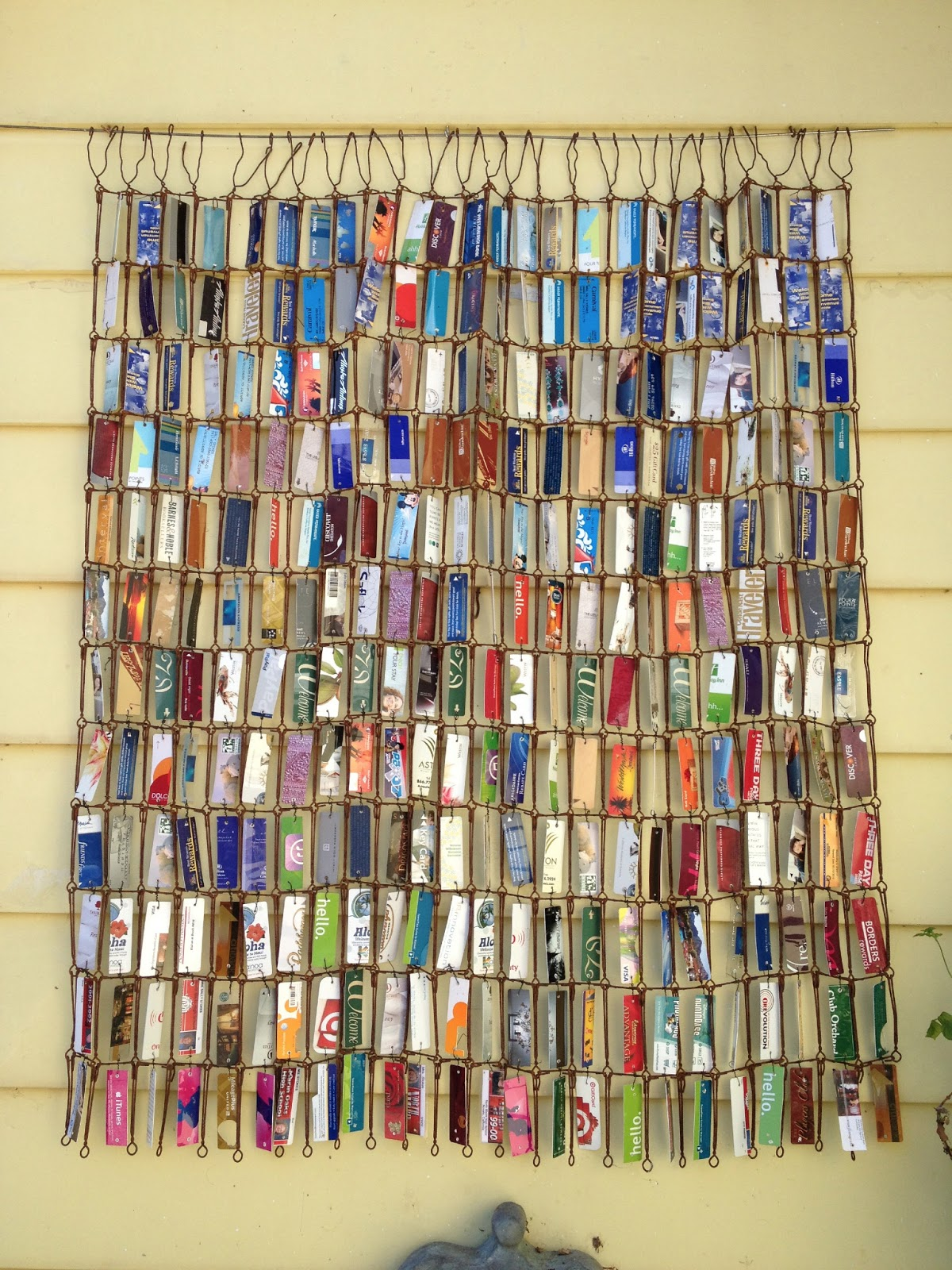 Sarahracha recycled plastic card quilt for Plexiglass arts and crafts