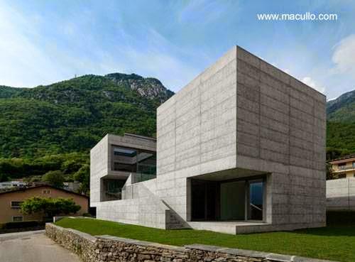 Casa residencial contemporánea en Suiza de aspecto brutalista 2007-09