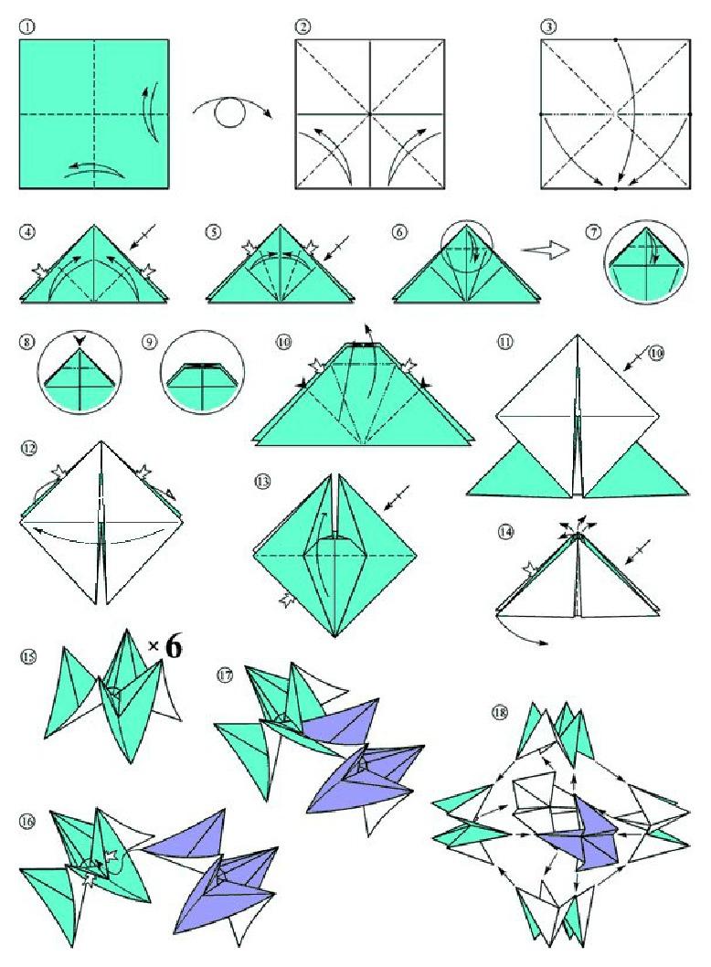 Origami paso a paso de flores imagui rosas en origami - Papiroflexia paso a paso ...