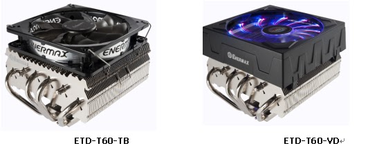 ENERMAX introduces a new down flow CPU cooler, the ETD-T60 series