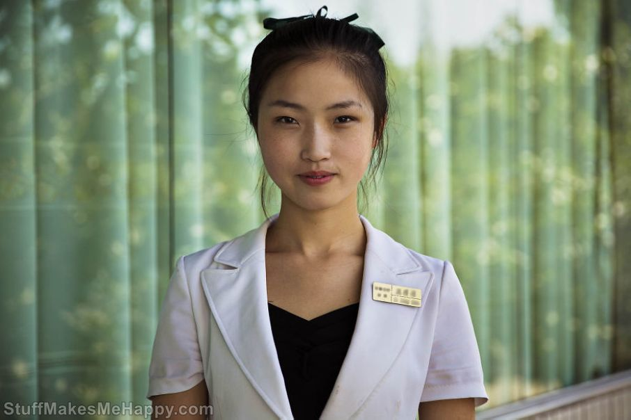 Waitress in Pyongyang
