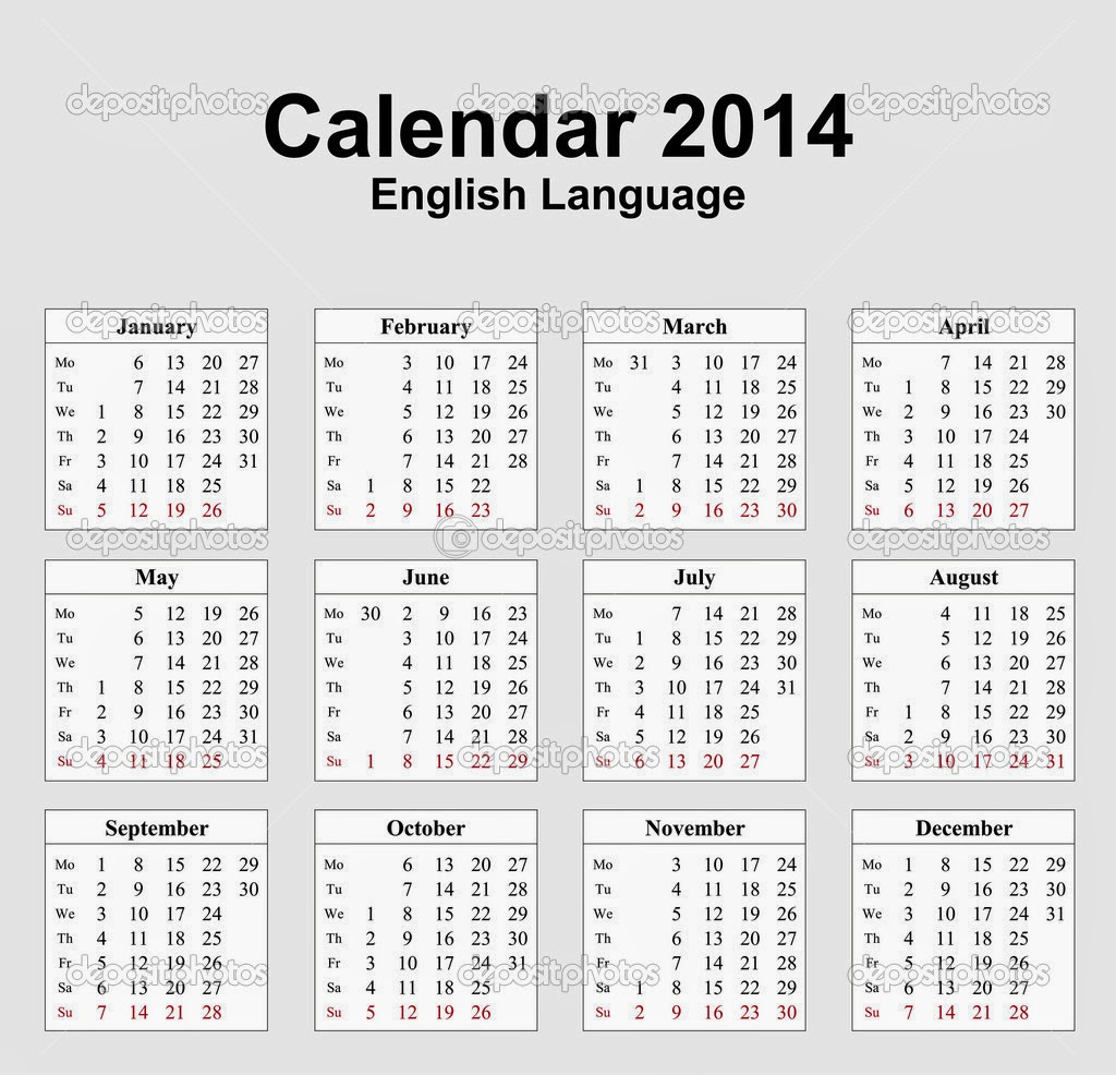 Calendar 2014 Only Printable Yearly | Calendar Template 2016