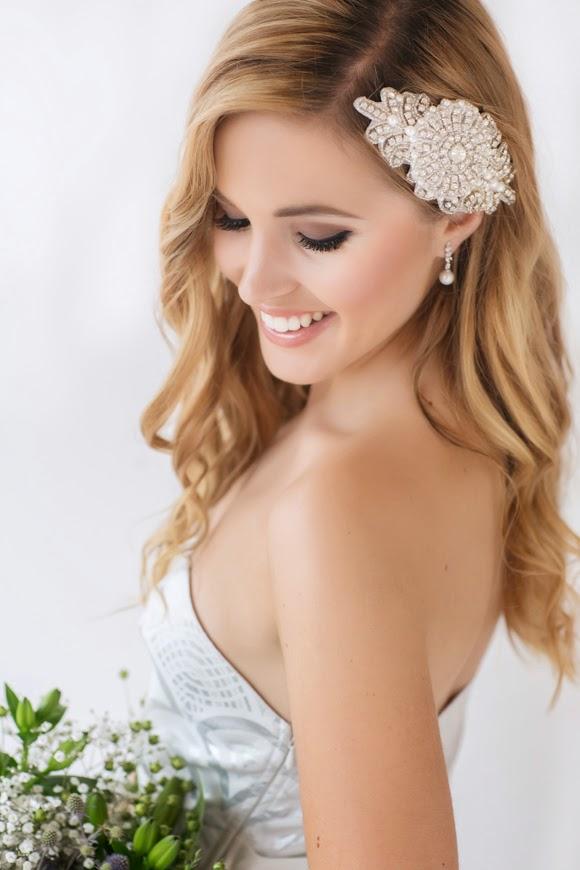 Ave Maria Bridal Headpiece - www.perlejewellerymakeup.com.au