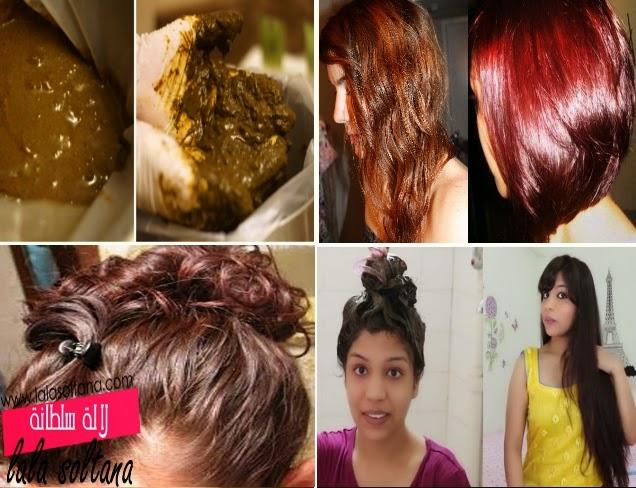طريقة عمل خلطة لصبغ الشعر بالحنة