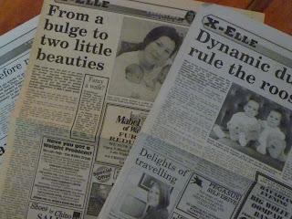 Copies of newspaper articles