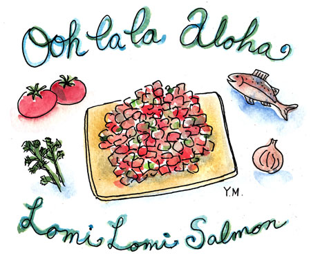 Lomi Lomi Salmon by Yukié Matsushita