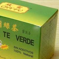 caja de té verde