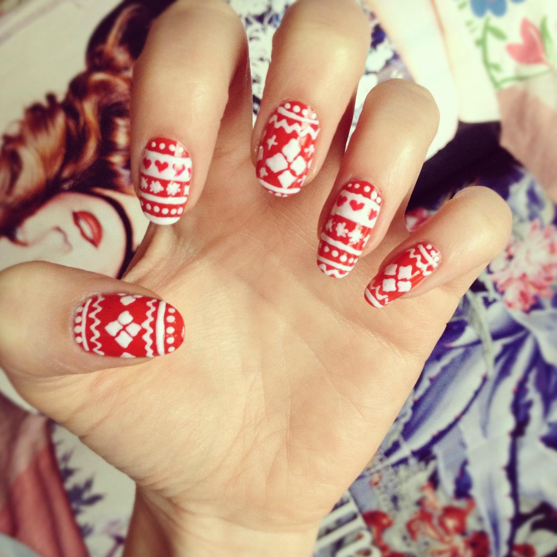 DIY fair isle nail art: | BURKATRON