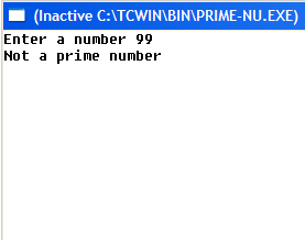 Program in C to Determine Whether a Number is Prime or Not.