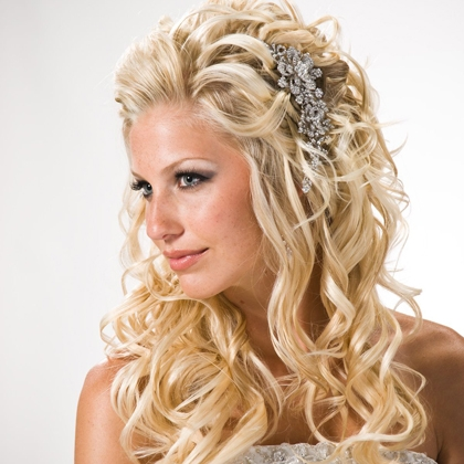 HAIRCUTS FOR MEDIUM LENGTH HAIR: CURLY WEDDING HAIRSTYLES CAN MAKE ...