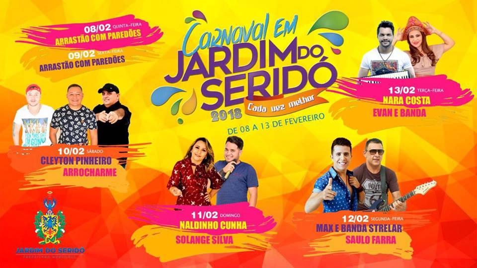 JARDIM DO SERIDÓ (RN): CARNAVAL 2018